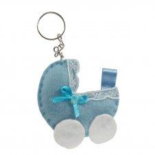 Imagem - Chaveiro em Feltro - Carrinho de bebê cód: 13036014-1