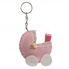 Imagem - Chaveiro em Feltro - Carrinho de bebê cód: 13036014-4
