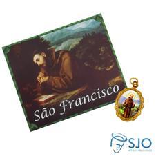 Imagem - Cartão com Medalha de São Francisco de Assis cód: 17478886