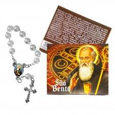 Imagem - Cartão com Mini Terço de São Bento cód: 10285669