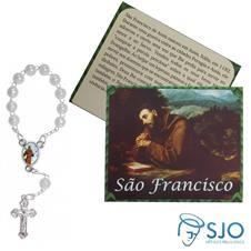 Imagem - 100 Cartões com Mini Terço de São Francisco de Assis cód: 11753571