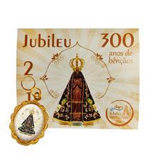 100 Cartões com Medalha - 300 Anos de Nossa Senhora Aparecida - Mod. 2