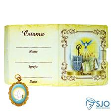 Imagem - Cartão com Medalha - Crisma cód: 17327417