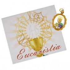 Imagem - Cartão com Medalha de 1ª Eucaristia - 18773198