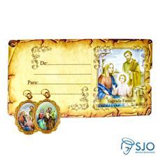 Imagem - Cartão com Medalha - Sagrada Família cód: 13515203