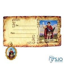Imagem - Cartão com Medalha - Santo Expedito cód: 16008888