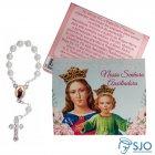 Imagem - 50 Cartões com Mini Terço de Nossa Senhora Auxiliadora  cód: 18992732
