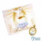 50 Cartões com Medalha de Batismo