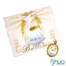Imagem - 100 Cartões com Medalha de Batismo cód: 10682177