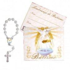 Imagem - Cartão com Mini Terço de Batismo cód: 10128878