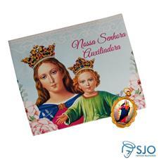 Imagem - 100 Cartões com Medalha de Nossa Senhora Auxiliadora  cód: 13582158