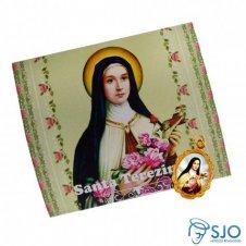 Imagem - 100 Cartões com Medalha de Santa Terezinha cód: 10547856