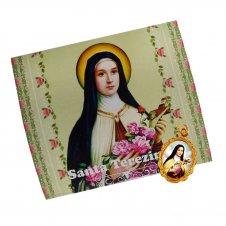 Imagem - Cartão com Medalha de Santa Terezinha cód: 18502172