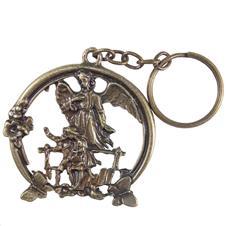 Chaveiro Anjo da Guarda de Bronze