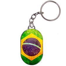 Imagem - Chaveiro Chapinha - Bandeira Brasil - Modelo 1 cód: 17098778