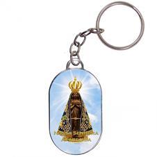 Imagem - Chaveiro Chapinha - Nossa Senhora Aparecida - Mod. 1 cód: 16609370