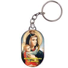 Imagem - Chaveiro Chapinha - Nossa Senhora da Abadia - Mod. 2 cód: 16747958