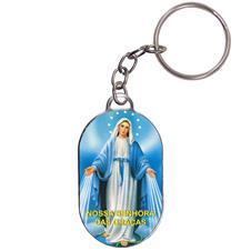 Imagem - Chaveiro Chapinha - Nossa Senhora das Graças - Mod. 03 - 14280005