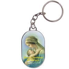 Imagem - Chaveiro Chapinha - Nossa Senhora do Abraço cód: 16702157