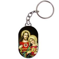 Chaveiro Chapinha - Sagrado Coração de Jesus e Maria