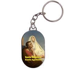 Imagem - Chaveiro Chapinha - Santa Mônica e Santo Agostinho cód: 17912333