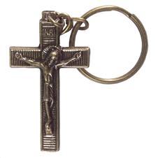 Imagem - Chaveiro Crucifixo de Bronze - 15975915