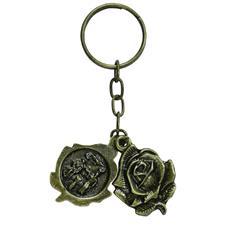 Imagem - Chaveiro de Bronze Botão de Rosa cód: charo60