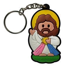 Chaveiro Emborrachado Jesus Misericordioso