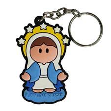 Imagem - Chaveiro Emborrachado Nossa Senhora das Graças cód: 15010597
