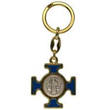 Imagem - Chaveiro Italiano Dourado Cruz Malta de São Bento cód: 18541853-1