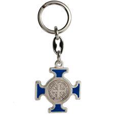 Imagem - Chaveiro Italiano Prata Cruz Malta de São Bento cód: 18544867-1