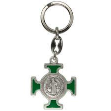 Imagem - Chaveiro Italiano Prata Cruz Malta de São Bento cód: 18544867-2
