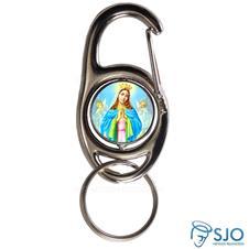 Imagem - Chaveiro Mosquetão Giratório Nossa Senhora da Guia cód: 12485446