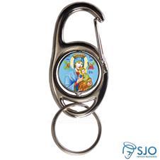 Imagem - Chaveiro Mosquetão Giratório Nossa Senhora do Perpétuo Socorro cód: 14838712