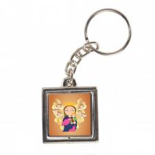 Imagem - Chaveiro Quadrado Giratório de Nossa Senhora Auxiliadora Infantil cód: CQGNSAI2