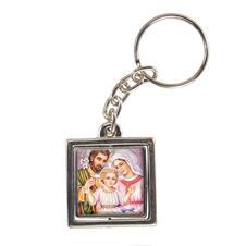 Chaveiro Quadrado Giratório da Sagrada Família - Modelo 1