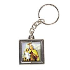Chaveiro Quadrado Giratório de Nossa Senhora do Carmo