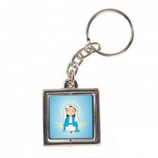 Imagem - Chaveiro Quadrado Giratório de Nossa Senhora das Graças Infantil cód: CQGNSFI