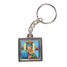 Chaveiro Quadrado Giratório de Nossa Senhora do Perpétuo Socorro