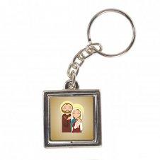 Imagem - Chaveiro Quadrado Giratório Sagrada Família Infantil cód: CQGSFI