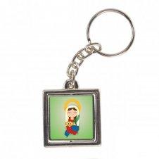 Imagem - Chaveiro Quadrado Giratório Santa Luzia Infantil cód: CQGSLI