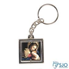 Chaveiro Quadrado Giratório de Nossa Senhora da Divina Providência