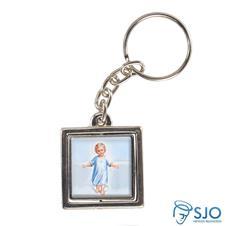 Imagem - Chaveiro Quadrado Giratório do Menino Jesus - Modelo 1 cód: 16209407
