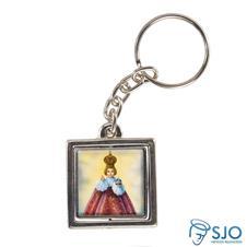 Imagem - Chaveiro Quadrado Giratório do Menino Jesus de Praga - 10411684