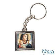 Imagem - Chaveiro Quadrado Giratório de Nossa Senhora da Abadia cód: 14482798