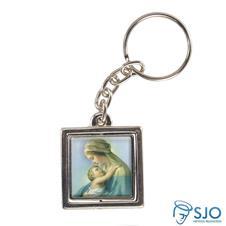 Imagem - Chaveiro Quadrado Giratório de Nossa Senhora do Abraço cód: 19365050