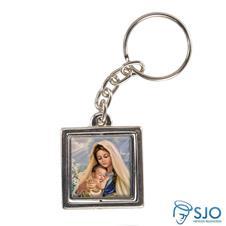 Imagem - Chaveiro Quadrado Giratório de Nossa Senhora do Amparo cód: 13376861