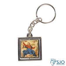 Imagem - Chaveiro Quadrado Giratório de Nossa Senhora da Assunção cód: 13815182