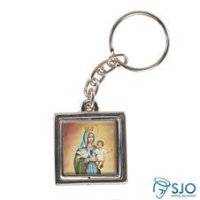 Imagem - Chaveiro Quadrado Giratório de Nossa Senhora da Boa Esperança cód: 12096731