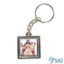 Imagem - Chaveiro Quadrado Giratório de Nossa Senhora da Glória cód: 15783214